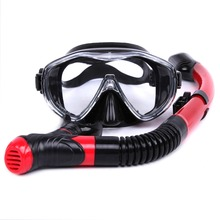 2017 Brand 6 Colors Scuba Diving Mask Snorkel Goggles Set Silicone Swimming Pool Equipment free shipping MK100+SK900