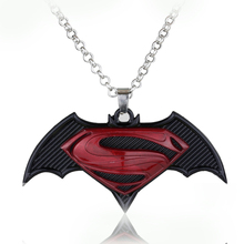 2Colors Fashion Movie Avengers Series Alliance Collier Batman with Superman Dawn of Justice Necklace Cosplay Pendant for Lovers'(China)
