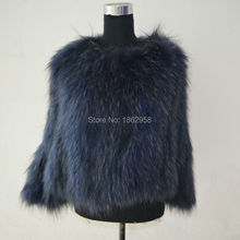 SJ477-03 Wholesale High Quality Raccoon Online Shopping Cheap Fur Coat from China Factory