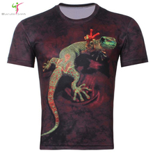 2017 Men's Fashion 3D Animal Creative T-Shirt, Lightning/smoke lion/lizard/water droplets 3d printed short sleeve T Shirt M-4XL