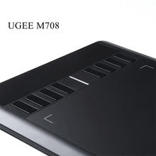 Ugee M708  Graphics Drawing Tablet with Pen 2048 Level Digital Pen Good as Huion H610 Pro + Anti-fouling