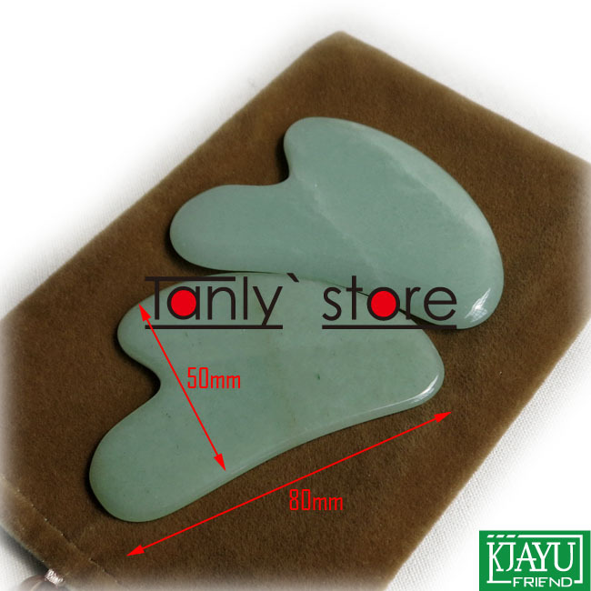 Gift chart &amp; bag! Traditional Acupuncture Massage Tool Guasha Beauty kit Natural Aventurine (middle triangle shape) 12pieces/lot<br><br>Aliexpress