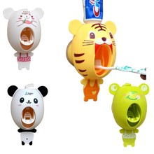 Home Useful Bathroom Accessories sucker Cartoon Automatic Toothpaste Dispenser Toothbrush Bathroom Tools Panda