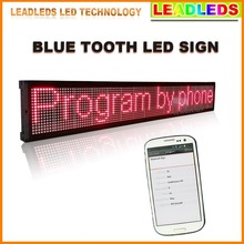 20x6.3 inches indoor Red Led display Bluetooth Programmable Scrolling Message led advertising sign Board for Business and Store