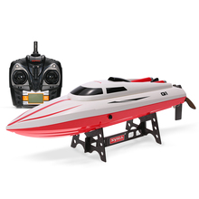 Pioneer Q1 RC Speedboat Motorboat 2.4G 2CH Remote Control Boat 180 Flip High Speed Electric RC Boat Ship Kids Gifts Boys Toys(China)