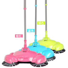 2017 new Lazy household cleaning without electricity automatic hand push sweeper broom magic broom dustpan combination package