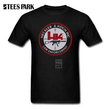 Printed Tee HK Heckler Amp Kohc Logo Men's Slim Fit Short Sleeved T-Shirts Exercise Youth Custom Made T Shirts