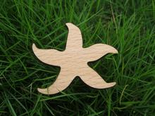 sea star with five feelers wood brooch