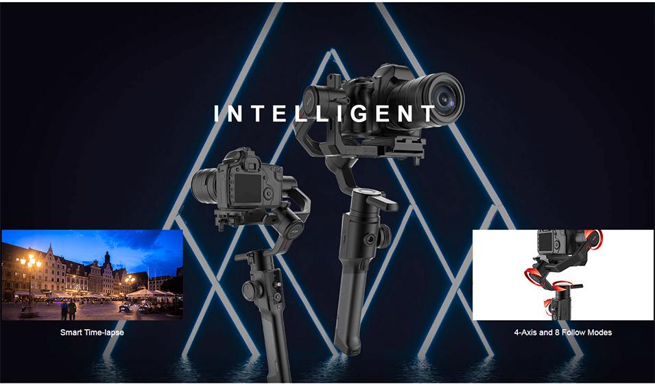 DIGITALFOTO Moza Air 2 Maxload 4.2KG DSLR Camera Stabilizer 3 Axis Handheld Gimbal for Canon Nikon PK DJI Ronin S Zhiyun Crane 2 2