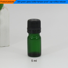 sample hot sale 10pcs/lot glass perfume essential oil dropper bottle 5ml green glass bottle(China)