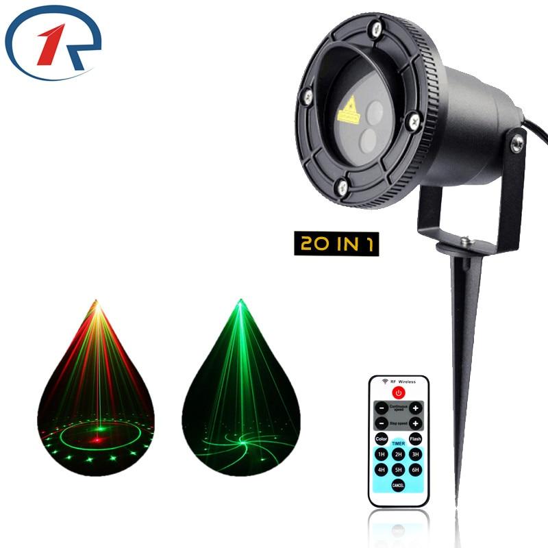 ZjRight IR Control Red Green 20 Renderings Laser Light Outdoor Waterproof IP65 laser projection lamp Bar DJ party stage lighting<br>