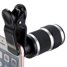 Buy Universal 8x Optical Zoom Lens Telescope HD Phone Camera Telescope Lens Clip Smart Mobile Phones Lens Portable for $8.52 in AliExpress store