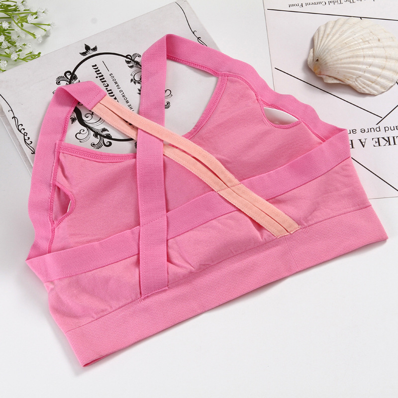 Cross Back Stitching Color Sports Bra Women Fitness Bra Breathable Yoga Bra Women Underwear Brassiere Sport Bra Top Bralette 10