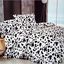 Wongs Bedding Milk Cow Black White Bedding Set 100% Cotton Quilt/Doona/Duvet Cover Sets Twin Full Queen King Size 3PCS