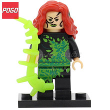 POGO Poison Ivy Super Heros DIY Blocks Action Building Model Sets Single Sale Classic Children Bricks Toys Baby Gifts(China)