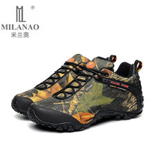 2016 MILANAO men outdoor waterproof canvas hiking shoes , low Anti skid Wear resistant breathable fish climbing boots - Official Store store