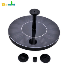 2017 Hot Sale Solar Garden Pump Leaf Decoration 7V 1.4W Floating Water Pump Solar Panel Plants Water Power Fountain Pool