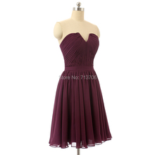 Charming Girl A line Strapless Chiffon Short 8th grade Graduation dresses 2017 Real Sample knee length homecoming dress