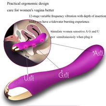 Buy 12 Speeds G Spot Vibrators Clitoris Masturbation AV Magic Wand Vibrating Silicone USB Charge Powerful Vibrator Sex Adult Goods