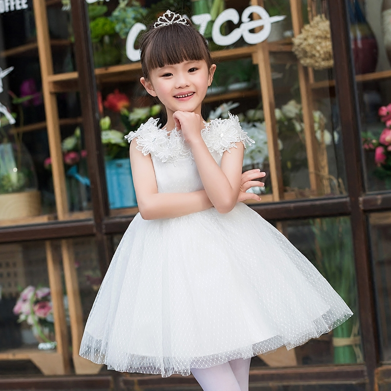 Elegant Girl Dress Girls 2017 Summer Fashion White Lace Big Bow Party Flower Princess Wedding Dresses Baby Girl Birthday dress<br><br>Aliexpress