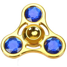 1pcs Hand Fidget Spiner Diamond toupie beyblade Tri Spinners Metal Fidget Spinning Top Stress Spinner gyroscope Rotating toy
