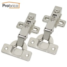 Probrico 4 Pair Soft Close Concealed Kitchen Cabinet Hinge CHR093HA Full Overlay Hydraulic Furniture Cupboard Door Hinge(China)