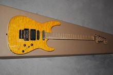 Pabrik Kustom Tubuh SSH pick-up Jackson SL2H USA Soloist Maple neck jeruk kuning finish inlays signature gitar listrik-11-12(China)