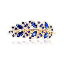 1 pc Beauty Women Fashion Hair Clip Leaf Crystal Rhinestone Barrette Hairpin Headband hair accessories 5 colors