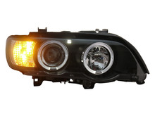 Free shipping for VLAND car Head lamp for BMW X5 headlight E53 Head lamp 1999 2000 2002 with LED Angel eyes H7 Xenon lamp