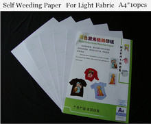 (A4*10pcs) Laser Heat Transfer Paper Light Color (8.3*11.7 inch) Self Weeding Paper For T shirt Thermal Transfers Papel