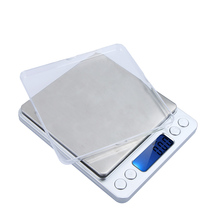 Electronic Digital Platform Jewelry Scales Weighing Balance Two Trays 2000g/0.1g Counting Function LCD g/ct/dwt/ozt/oz/gn