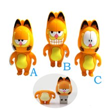 pen drive yellow cat USB Flash Drive Memory Stick/thumb 4g 8g 16g 32g 64g Garfield flash Pendrive tiny U Disk external storage