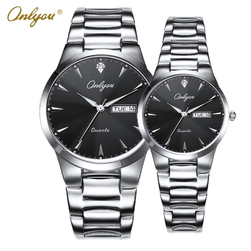 Onlyou Wrist Watches for Women Men Ladies Dress Quartz Watch Luxury Top Brand Stainless Steel Relogio Masculino feminino 8867<br>