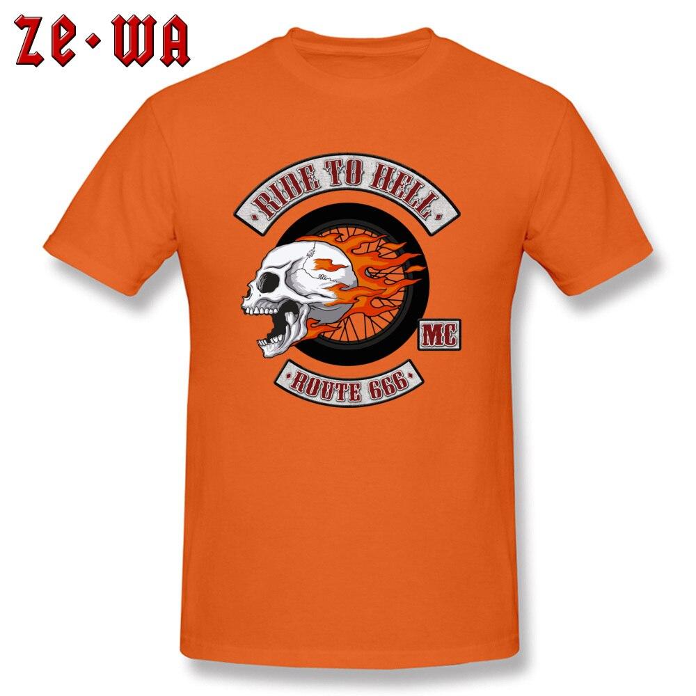 2018 Newest Men's T Shirt Rider Logo Printed T Shirts 100% Cotton Short Sleeve Printed Top T-shirts O-Neck Wholesale Rider Logo orange