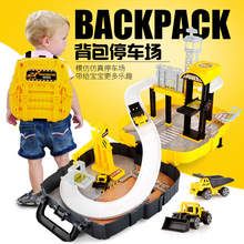 Interesting children car toy assembly rail car, car model parking lot, toy set, children's intelligence education, automobiletoy(China)