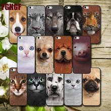 New fashion Animal Head Portrait Hard Plastic Phone Case Cover For Apple iPhone 5 5S SE 5c 6 6 S Plus7 7plus 8 8PLUS Case(China)