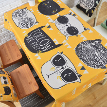 Modern Nordic Creative Cat Table Cloth Thick Linen Customize Dining Coffee Tablecloth Restaurant Home Decorative Cloth Cover