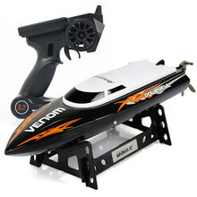 UDI Toys 001 Super 2.4G High Speed RC Boat Electric Motorboat 4CH Model can Righting Remote Control RC Speedboat(China)