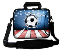 "10""13""14""15""17"" Laptop Sling Satchel Cover Kits Powerful Football Design Neoprene Notebook Handle Shoulder Bag For Dell Intel"