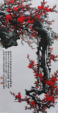 "40""Chinese SuZhou Silk Art Plum Blossom Decoration Scroll Painting Drawing S139"