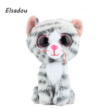 Elsadou Ty Beanie Boos Stuffed & Plush Animals Gray Cat Toy Doll