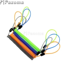 150cm Motorcycle Disc Lock Spring Cable Reminder Tool Anti Thief Security Universal Black Orange Green Blue