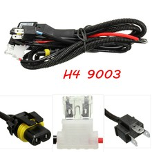 2015 New For HID Hi Lo Bi-Xenon Bulb Relay Controller Wiring Cable Harness H4 9003 Type