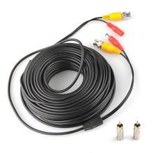 100ft 30m CCTV Cable Camera Accessories BNC Video DC Power Cable for CCTV Surveillance System + 2 BNC Adapter New
