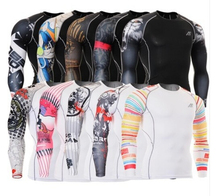 boxing Base layer Tops sublimation Design Bodybuilding Fitness Shirt Men's Compression Skin Sports Tights size s-4xl(China)