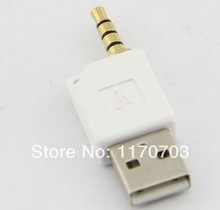 50 pcs USB 2.0 to 3.5mm Male Aux Auxiliary Adapter For Apple iPod shuffle 1st 2nd MP3