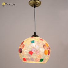 2017 New Tiffany Chandeliers Kitchen Glass suspension hanging design dining table lighting for dinning room Home