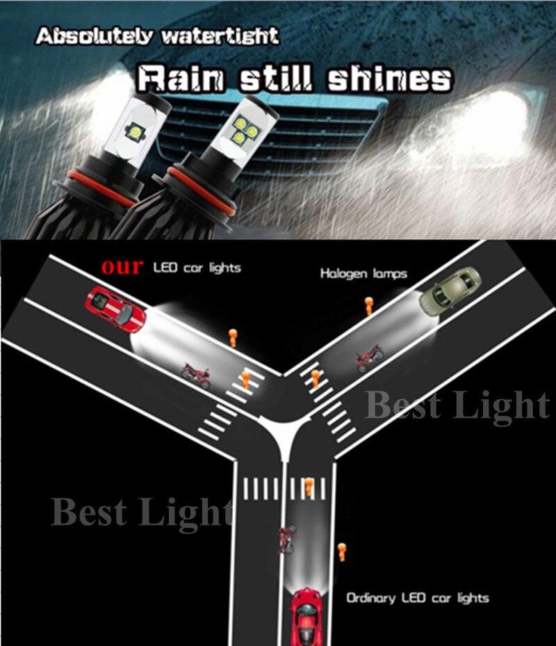 2x  80W 8000LM  High Lumen H4 H7 H8 H9 H11 9005 9006 HB3 HB4 CREE Chips LED Car  Fog  Headlight Automobile Motorcycle Bulb<br><br>Aliexpress