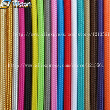vintage cable 2*0.75 textile fabric electrical wire DIY pendant light electrical cable woven braided cable power cord+accessory(China)