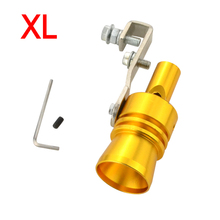 Universal Size XL Car Turbo Sound Whistle Muffler Exhaust Pipe Turbo Whistler Fake Blow off Valve Simulator Exhaust Muffler Pipe(China)